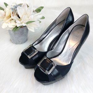 GUESS by Marciano Peep Toe Platform Stiletto Heels